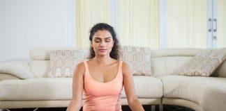 woman practising meditation