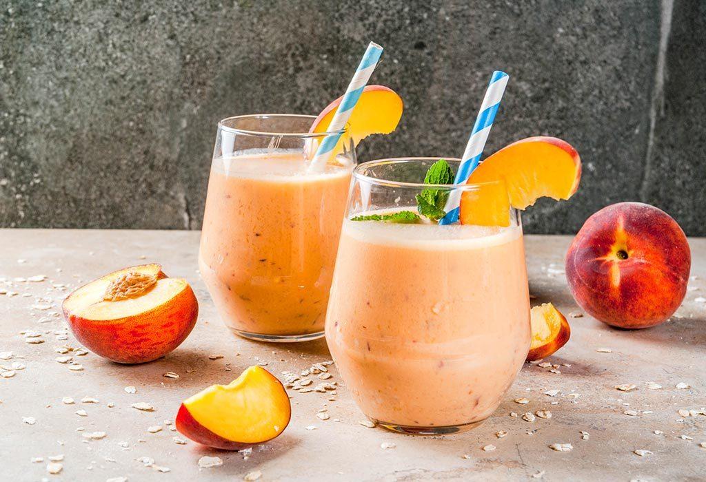 Peach-oatmeal Smoothie