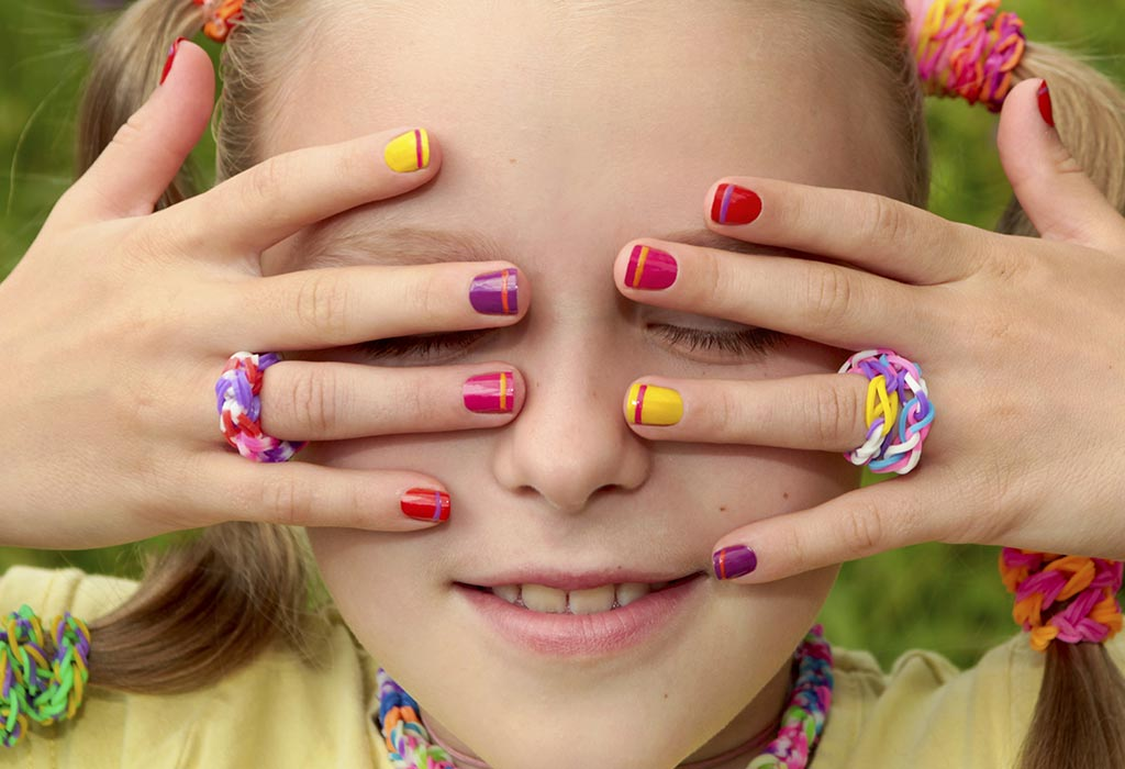 6 Innovative \u0026 Easy to Do Colourful Nail Art Ideas for Kids