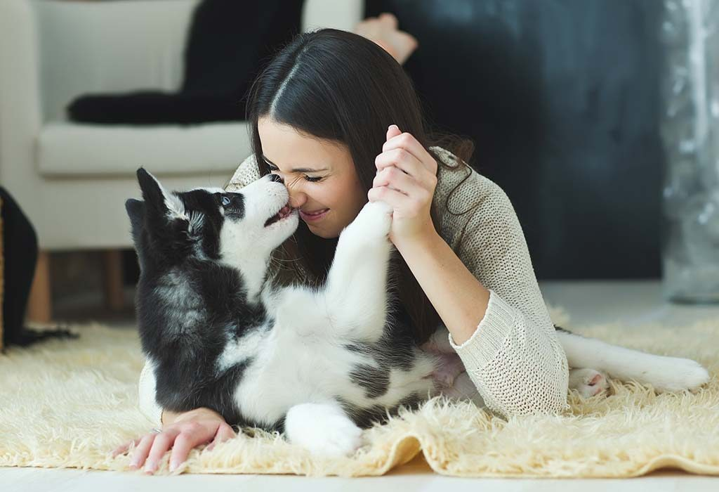 cuddle with a pet