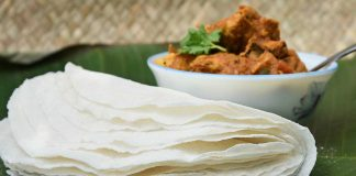 Recipes from the Kerala Kitchen - Malabar Pathiri and Nadan Chicken Curry