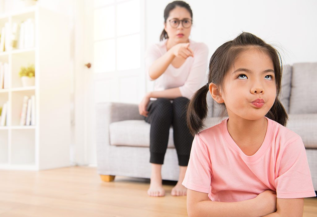 Child angry with mom