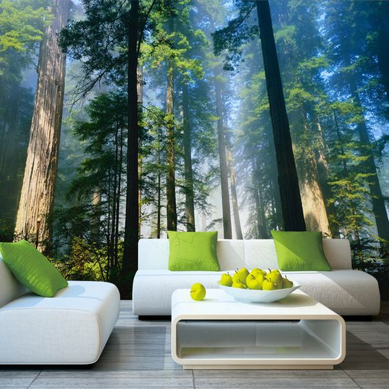 5D Papel Murals Forests Wallpaper Nature Fog Trees 3d Wall Photo Mural forest Wall paper for Background Bedroom 3D Wall Murals-in Wallpapers from Home Improvement on Aliexpress.com | Alibaba Group