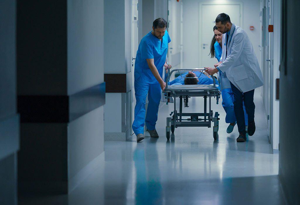 Woman in ICU