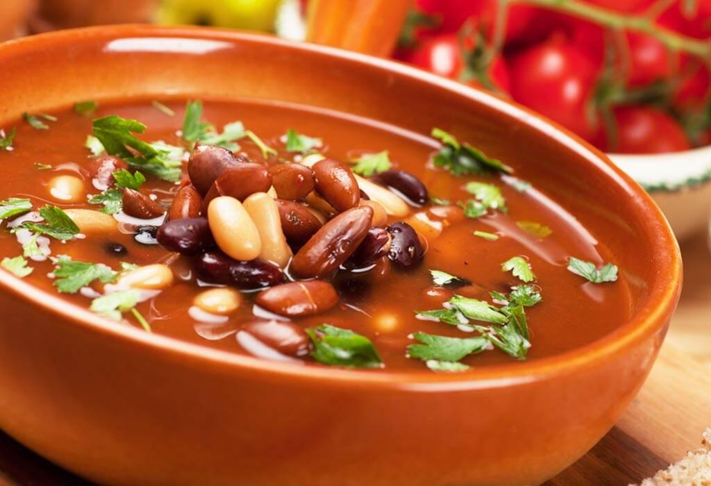 बीन सूप रेसिपी
