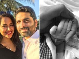 Sameera Reddy shares picture of her baby girl
