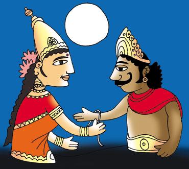 राजा बलि और देवी लक्ष्मी