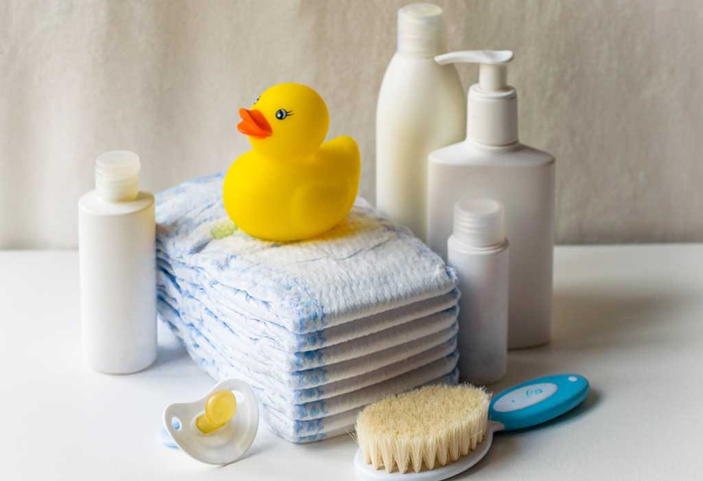Keep bath supplies at hand