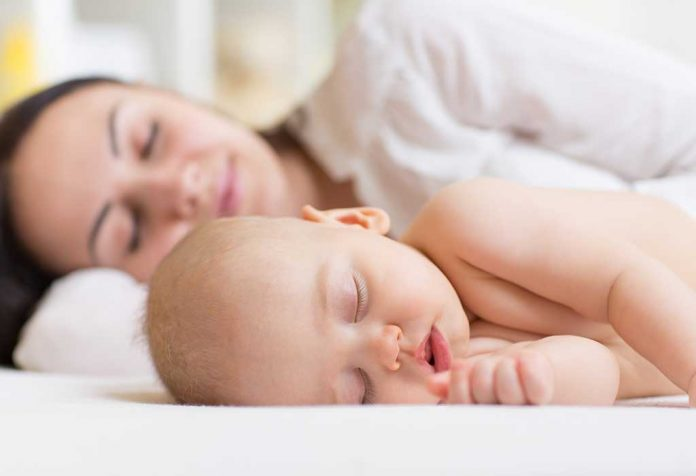 Mom and Baby Sleeping