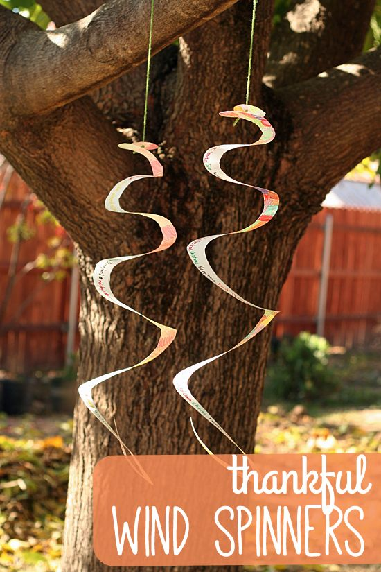 Thanksgiving Wind Spinner Craft for Kids
