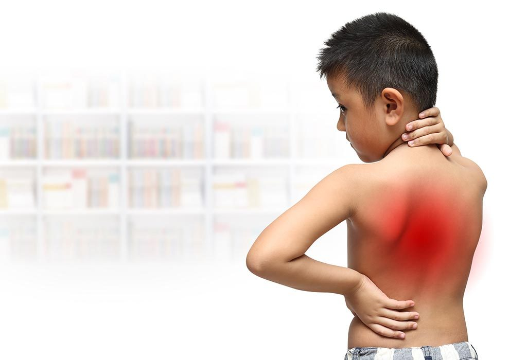 child with a back injury