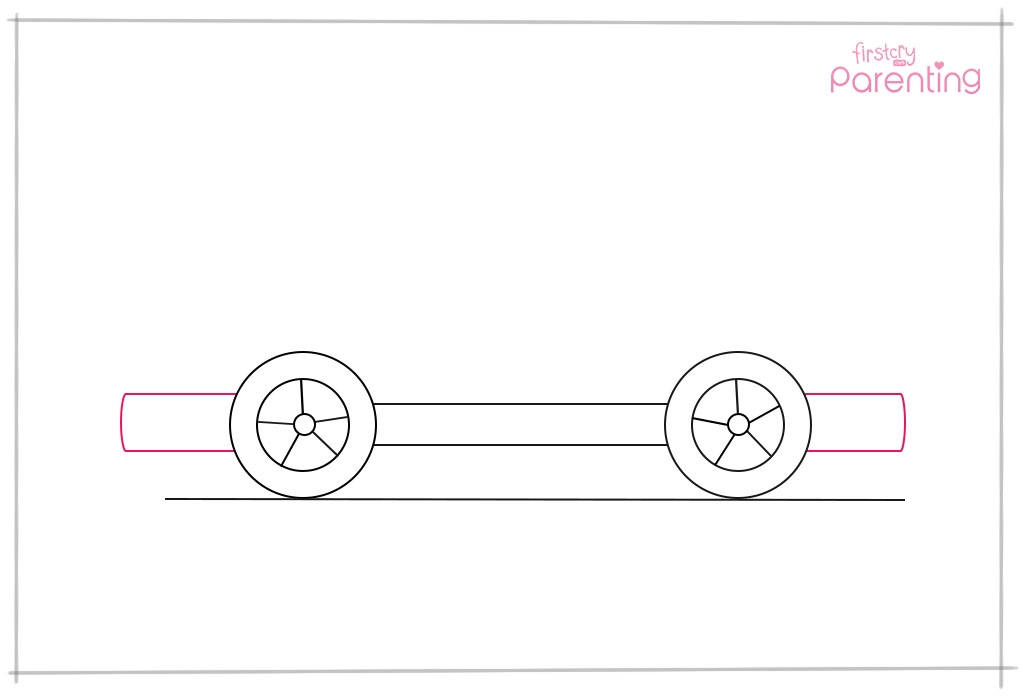 Draw Two Rectangles on Either Side of the Wheels