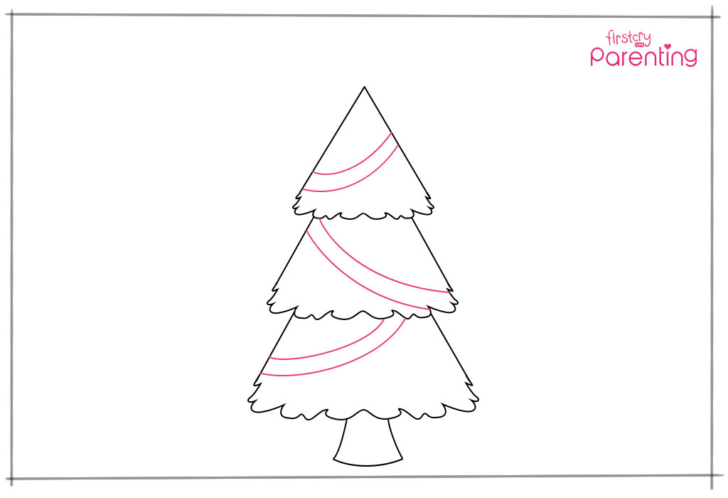 Draw some lights of Xmas tree