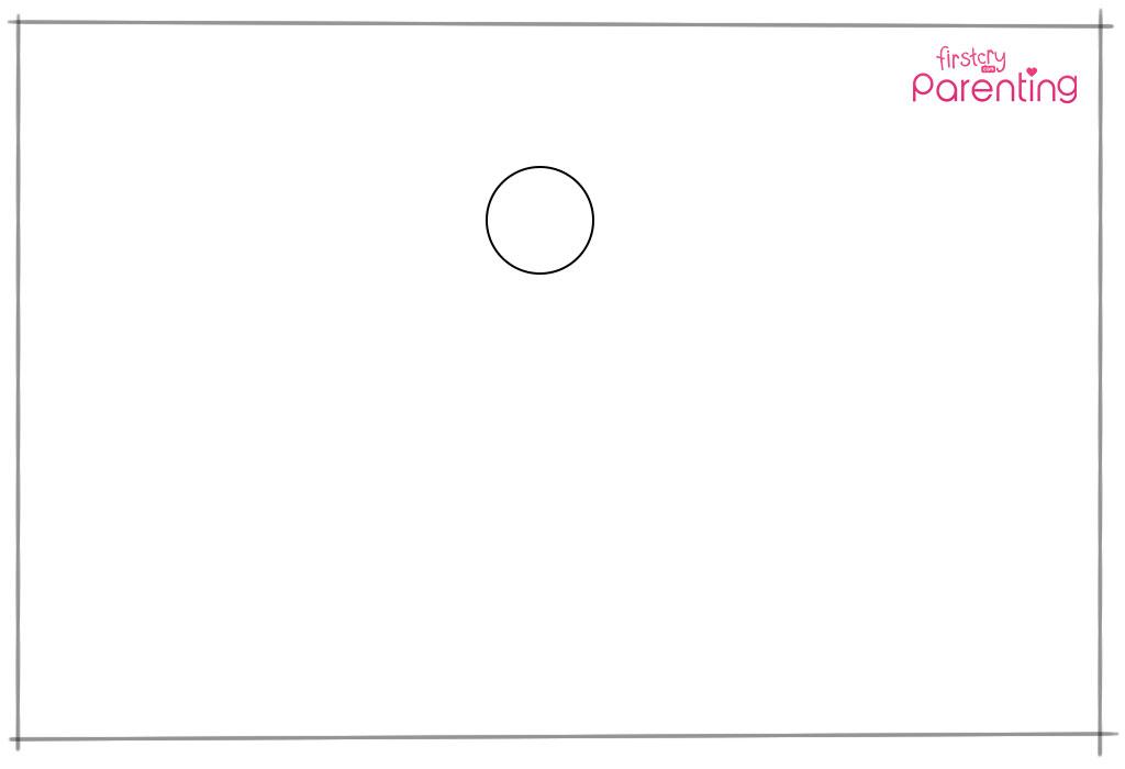 स्टेप 1: एक छोटा सर्कल ड्रॉ करें