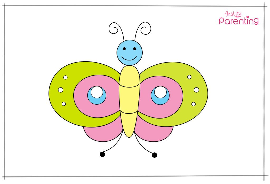 Step 12: Colour the butterfly.