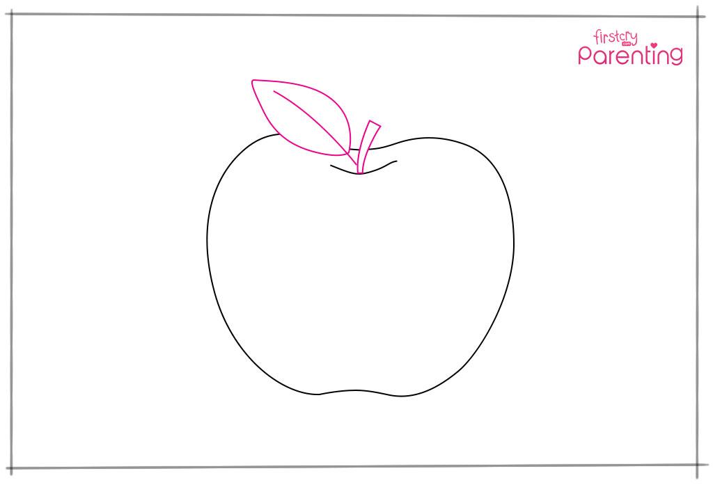 Draw a Stalk and a Leaf