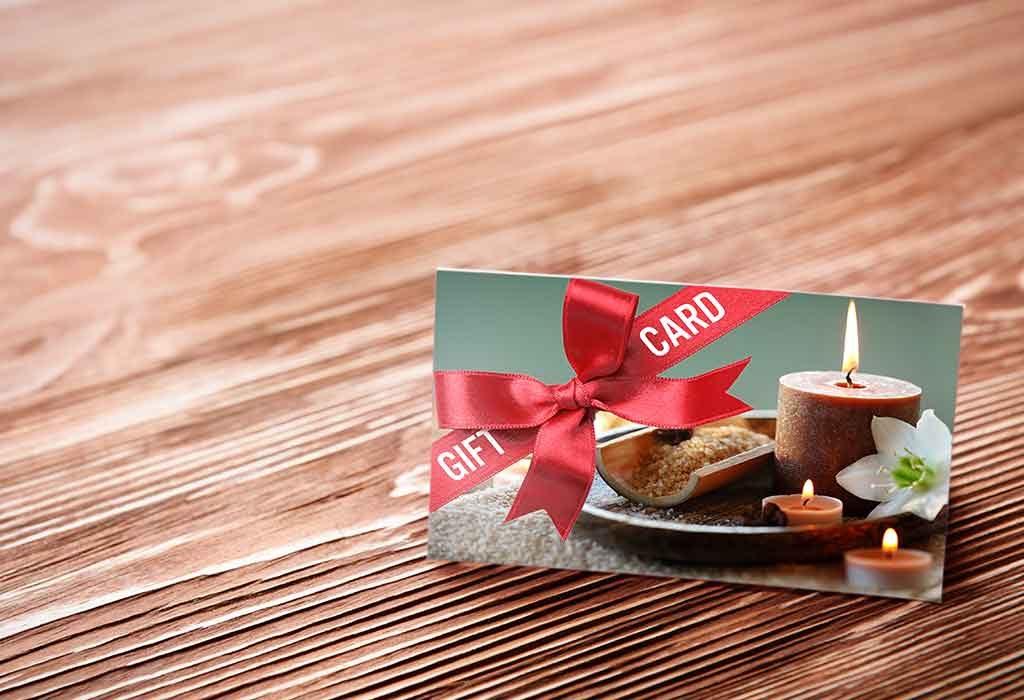 Spa service gift card