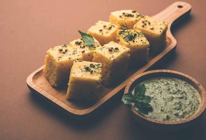 Mungdal Spinach Dhokla Recipe