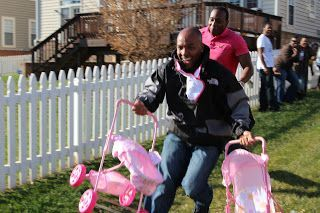 16. Stroller Race Coed Baby Shower Game