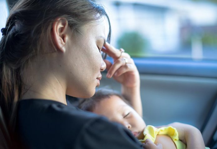 stressed mom unable to feed baby