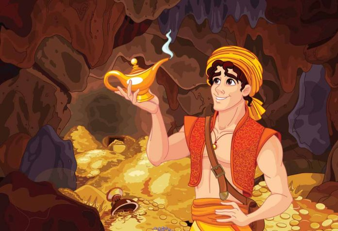 The Famous Story of Aladdin and the Magic Lamp for Kids