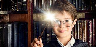 boy holding a wand