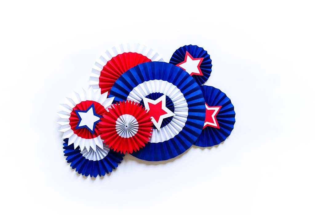 4th July Red White and Blue Star Wreath