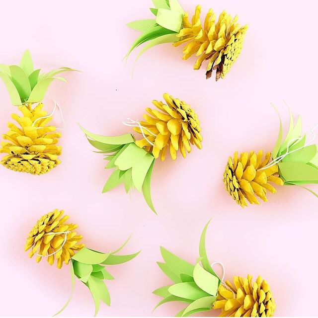 Pine cone craft for kids