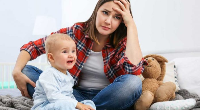 mother stressed with child's demands