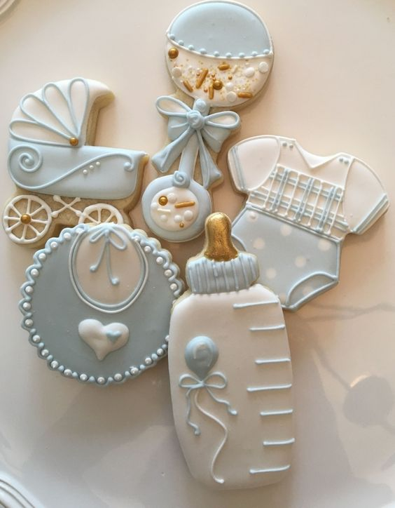 Shortbread Cookies for Baby Shower