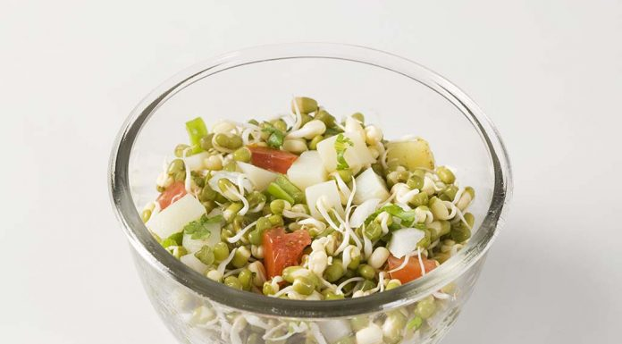 Sprouted Moong Chaat Recipe for Babies
