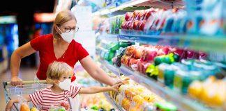 woman buying essentials during the coronavirus lockdown