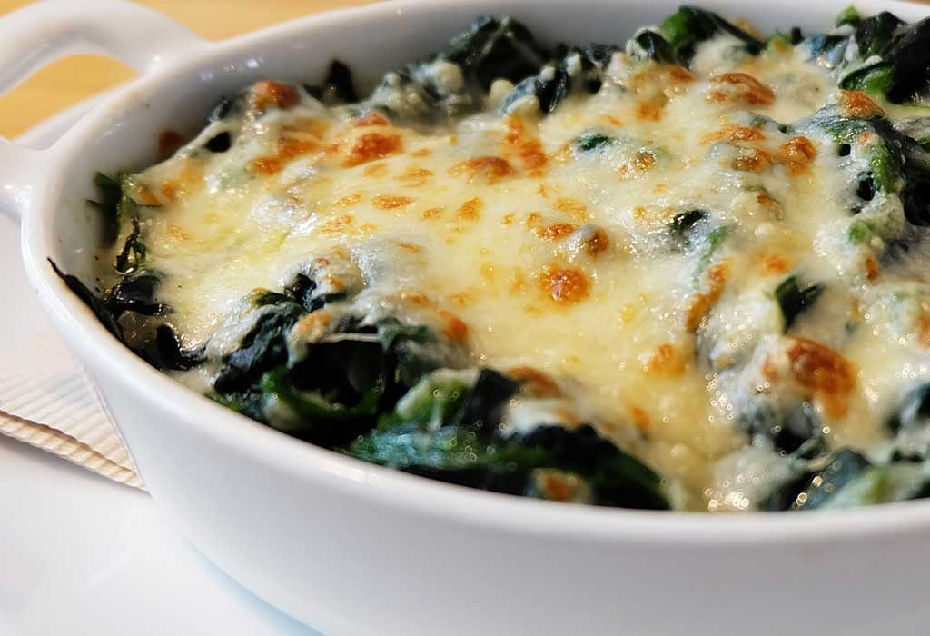 Cheezy Spinach Casserole