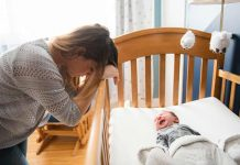 mother troubled with newborn's schedule