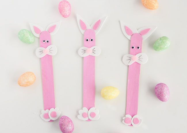 Popsicle Stick Easter Bunny