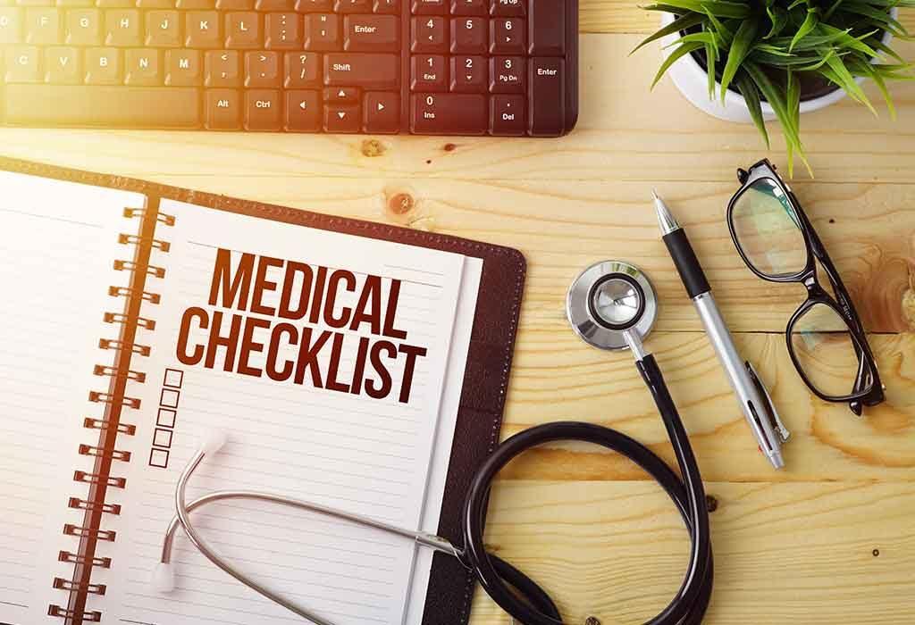 Medical details in a checklist