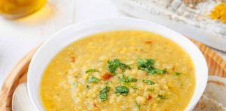 Carrot-Moong Dal (Split Green Gram) Soup Recipe