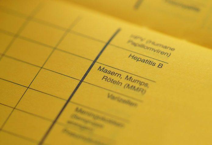 immunization vaccination card