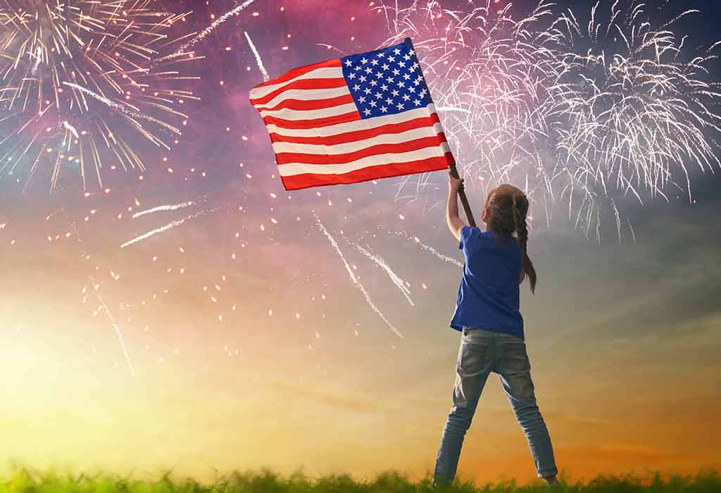 Fourth of July Kids 4th of July Toddler Independence Day Youth Little Firecracker Kids USA Patriotic Kids