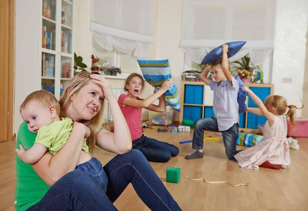 kids misbehaving