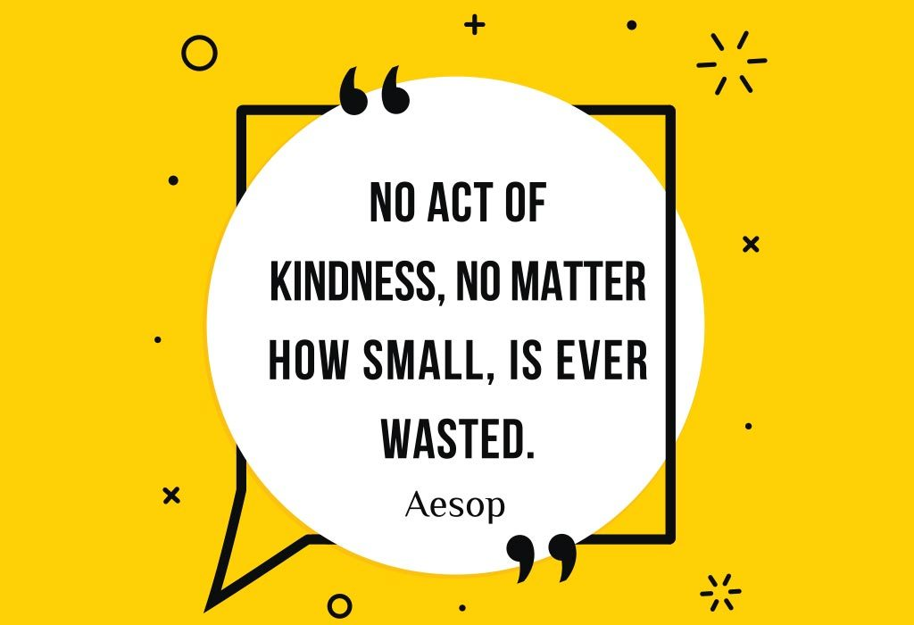 Aesop's quote on kindness
