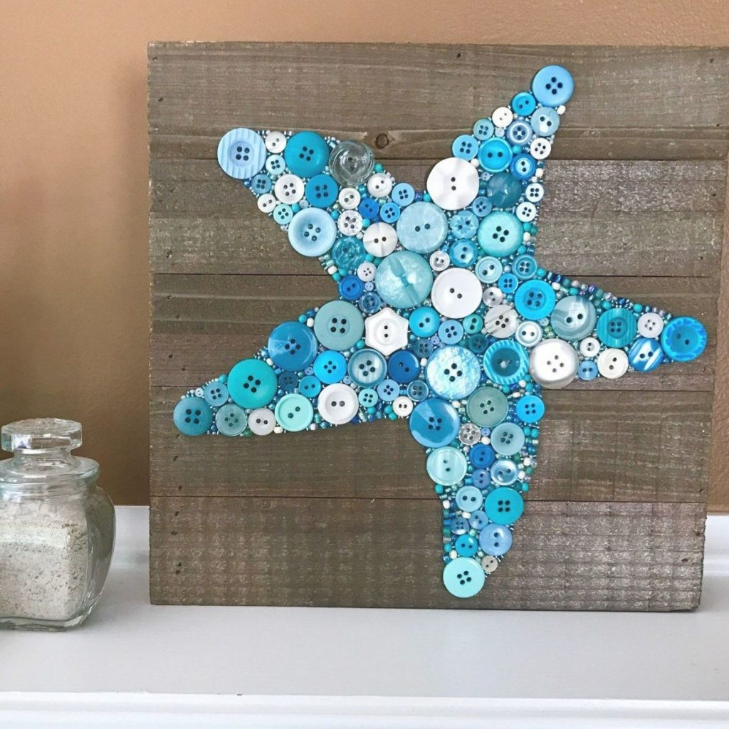 Starfish button craft