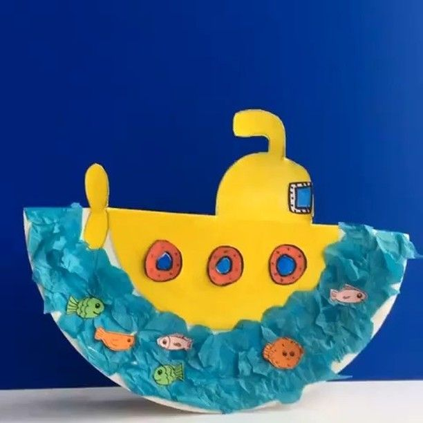 paper plate submarine