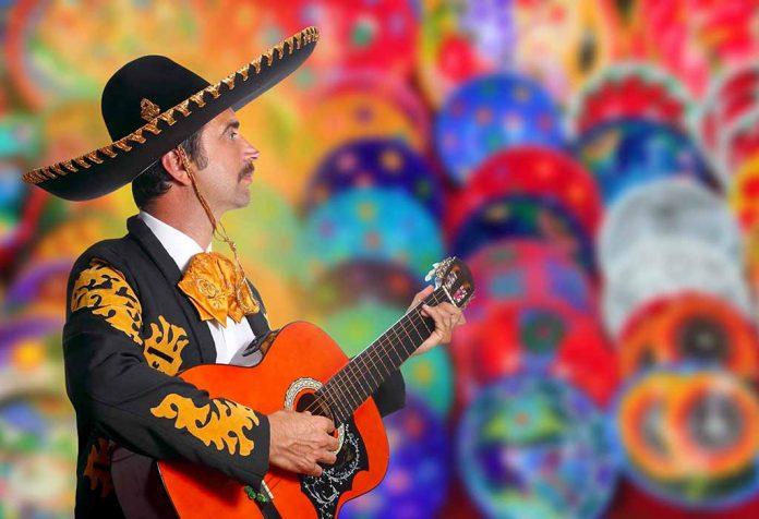Mexican guitarist representing Mexican culture