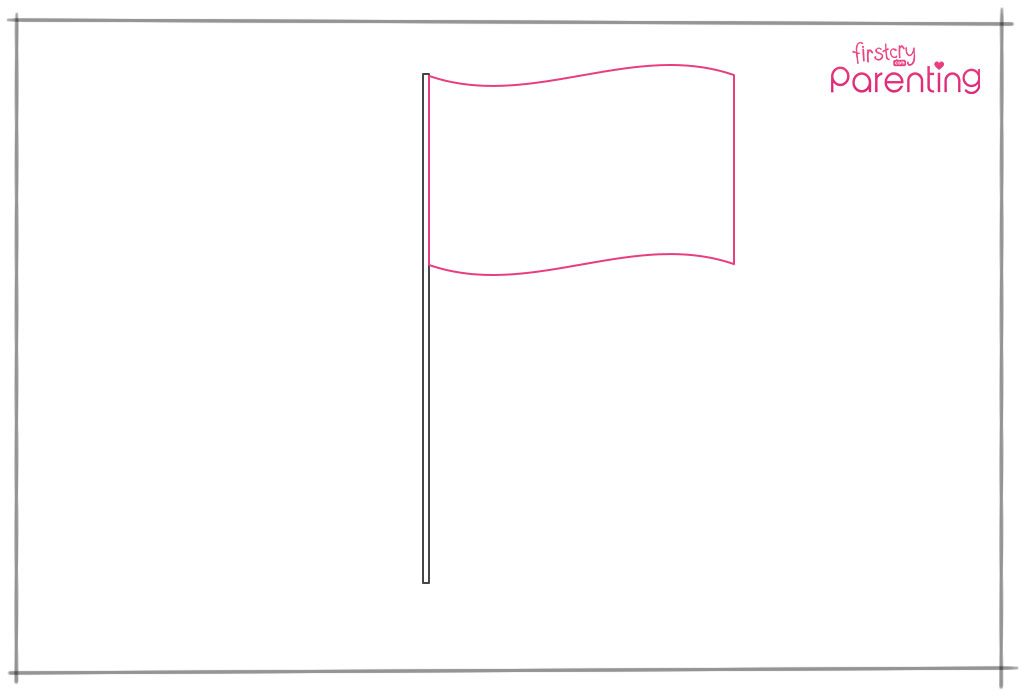 how to draw the national flag
