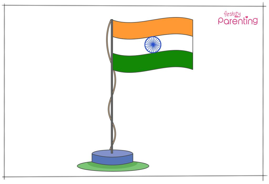 How to draw the Indian national flag