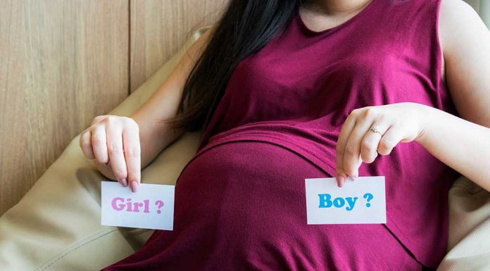 Determining the Gender of the Baby Using Skull Theory