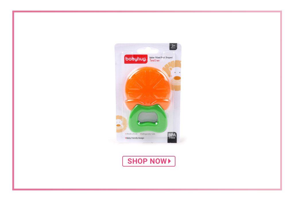 Babyhug Water Filled Orange Teether