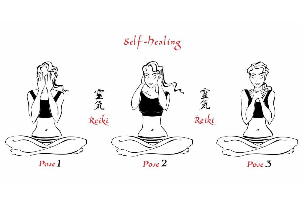self-reiki poses