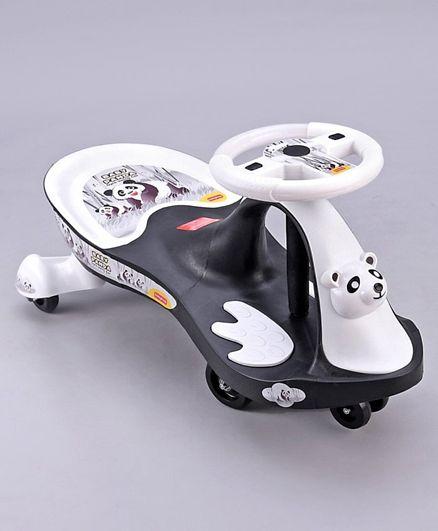 Babyhug Baby Panda Gyro Swing Car With Steering Wheel